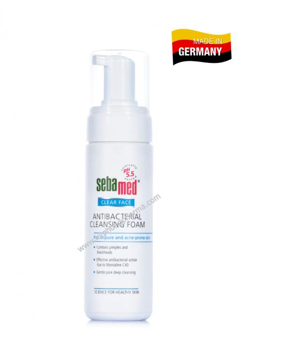 Sữa rửa mặt tị mụn kháng khuẩn Sebamed pH5.5