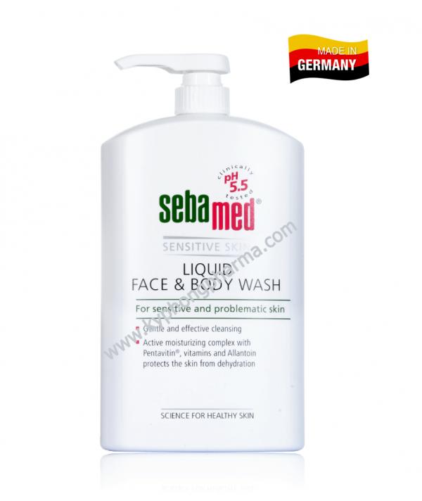 sữa rửa mặt và tắm toàn thân Sebamed pH5.5