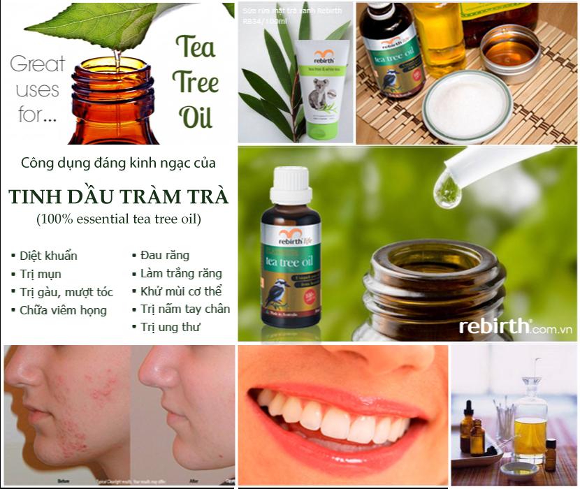 Công dụng của Tinh dầu tràm trà Rebirth - Tea tree oil