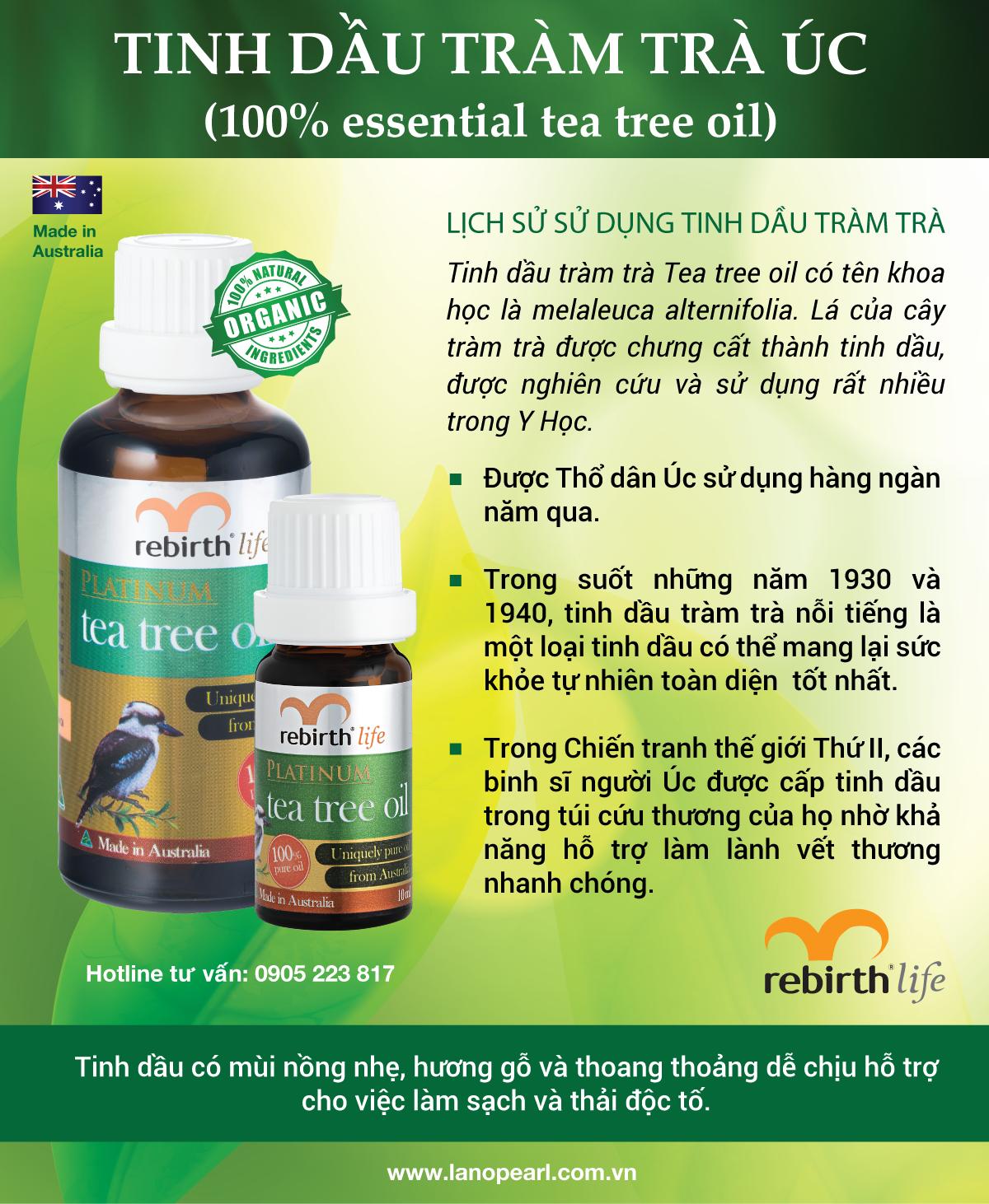 Lịch sử hình thành của Tinh dầu tràm trà Rebirth - Tea tree oil